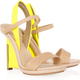 Reed Krakoff Leather and patent-leather wedge sandals