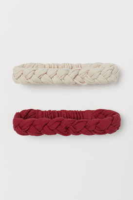 H&M 2-pack Braided Hairbands - Red