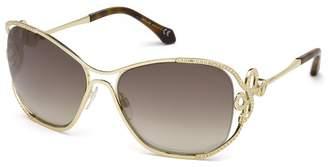 Roberto Cavalli 59mm Metal Frame Cat Eye Sunglasses
