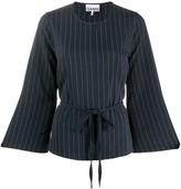 Ganni pinstripe blouse