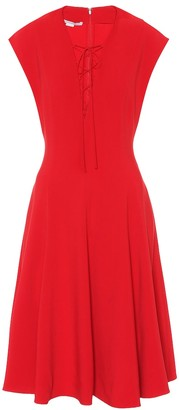 Stella McCartney Lace-up crApe dress