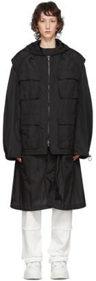 Juun.J Black Convertible Coat
