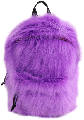 Vetements Small Faux Fur Backpack