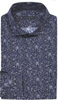 Z Zegna Regular-fit flower-print cotton shirt