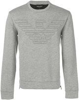 Emporio Armani logo embroidered sweatshirt