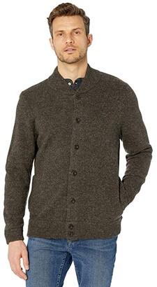 Pendleton Shetland Cardigan (Dark Brown Mix) Men's Sweater