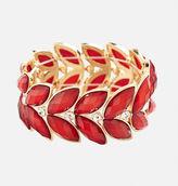 Avenue Faceted Leaf Stretch Bracelet