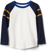 Gap Stripe-sleeve baseball tee