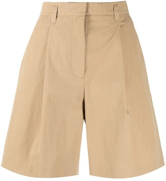 Low Classic High-Waisted Bermuda Shorts
