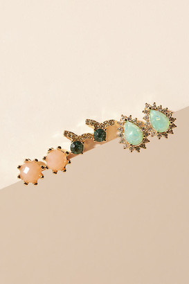 Anthropologie Persephone Post Earring Set By in Purple Size ALL