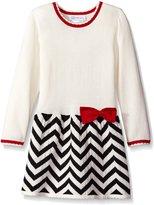Bonnie Jean Little Girls' Chevron Skirt Sweater Dress