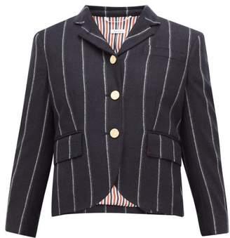 Thom Browne Striped Single-breasted Wool-twill Blazer - Womens - Navy