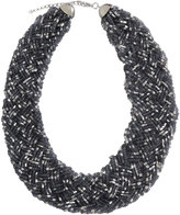 Yours Clothing Grey & Silver Beaded Bib Necklace