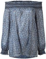 MICHAEL Michael Kors off the shoulder blouse - women - Cotton/Polyester - S