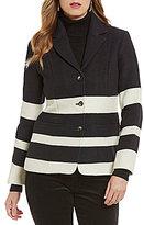 Pendleton Skyline Notch Collar Striped Jacquard Jacket