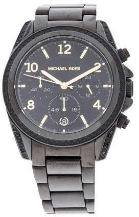 34ec433be5 Black Michael Kors Crystal Watch - ShopStyle