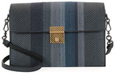 Bottega Veneta Striped Karung Shoulder Bag, Medium Blue