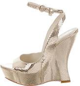 Alice + Olivia Metallic Wedge Sandals