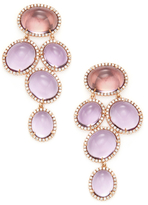 Rina Limor Fine Jewelry 18K Rose Gold, Amethyst & 1.53 Total Ct. Diamond Drop Earrings