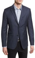 Theory Rodolf Hartsburg Two-Button Wool Sport Coat, Navy