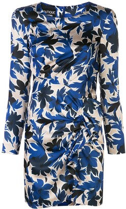 Boutique Moschino Floral Print Fitted Dressa