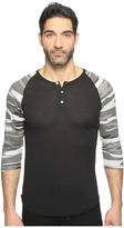 Alternative Printed 3/4 Raglan Henley Men's T Shirt