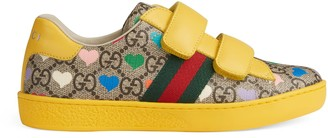 Gucci Children's Ace GG hearts sneaker