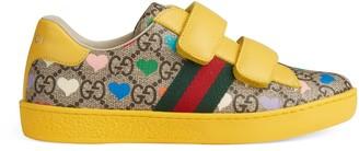 Gucci Children's Ace GG hearts sneaker