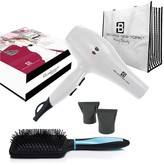 Brilliance New York Bombshell Blowout Duo: 3200PRO Dryer, Anti Frizz Styling Vent Brush & Tote 5-Piece Set - Turquoise