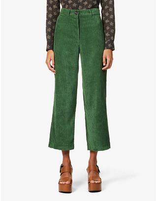 Sessun Cybill straight-leg high-rise corduroy trousers