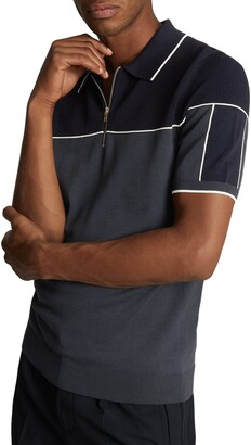 Reiss Nelson Zip Polo