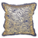 Jonathan Adler Gilded Malachite Throw Pillow