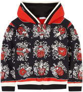 Dolce & Gabbana Zip hoodie with Sicilian badge print