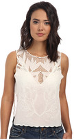 Free People Solid Voile Island in the Sun Crop Top