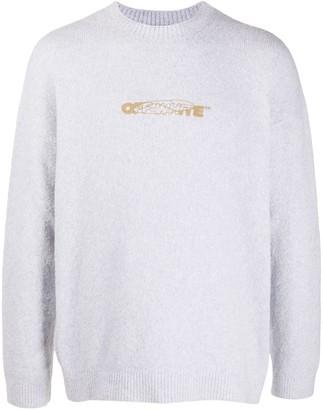 Off-White Stitch Detail Crew Neck Sweater