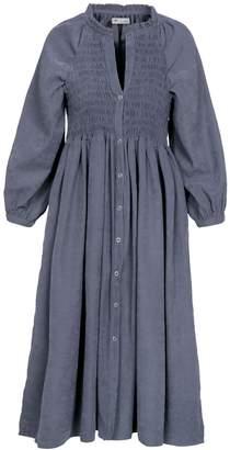 Naftul Puff Sleeves Bohemian Dress Blue