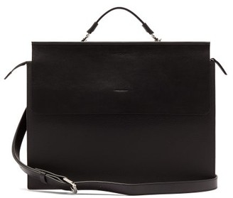 Nosakhari - Standout Leather Briefcase - Black