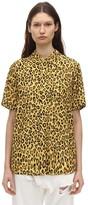 R 13 Leopard Print Viscose Shirt