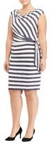Lauren Ralph Lauren Plus Size Women's Jersey Tie Waist Sheath Dress