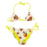MSGM Kids Swimsuit With Fruit Print And Logo