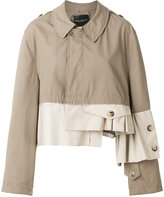 Erika Cavallini colour block oversized jacket