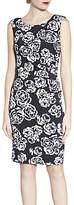 Gina Bacconi Floral Print Sleeveless Jersey Dress, Pink