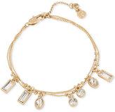 Kenneth Cole New York Gold-Tone Crystal Charm Bracelet