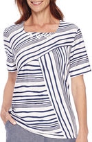 Alfred Dunner St. Augustine Short-Sleeve Striped Top