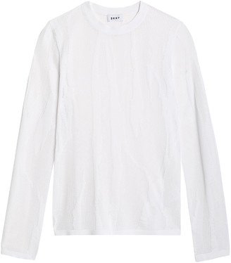 DKNY Burnout-effect Open-knit Sweater