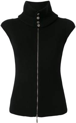 Chanel Pre-Owned knitted CC button gilet