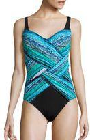 Gottex Swim Snake Printed One-Piece Swimsuit
