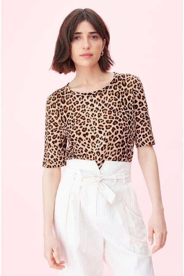 fd5844a68107 Rebecca Taylor Leopard Top - ShopStyle
