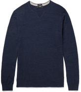 HUGO BOSS Nelino Slub Cotton Sweater - Navy