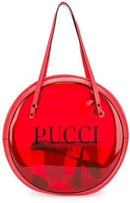 Emilio Pucci Red Round Vinyl Tote